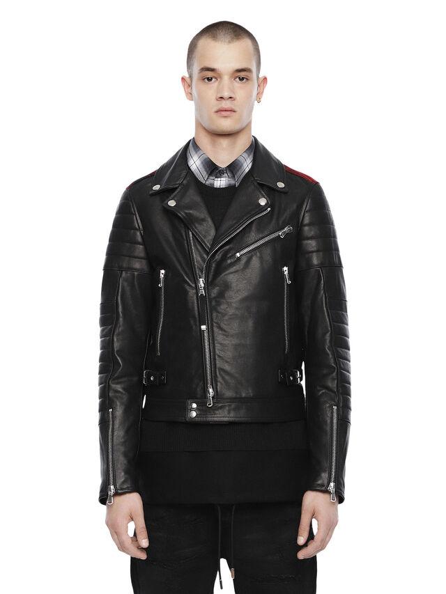 Diesel - LOCHECK, Black - Leather jackets - Image 1