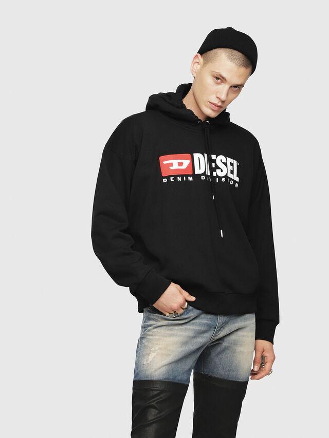 Diesel - S-DIVISION, Black - Sweatshirts - Image 1