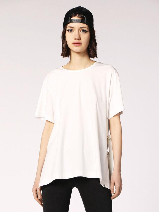 Diesel - T-FLEURIS, White - T-Shirts - Image 1