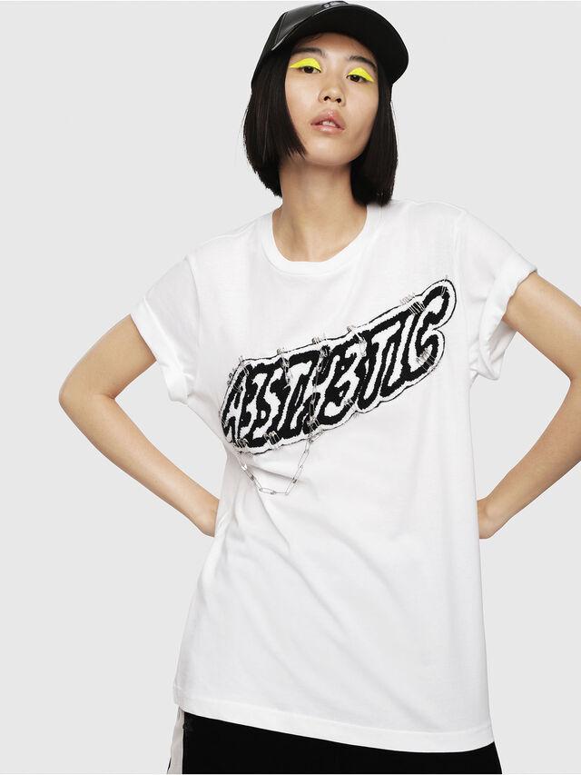 Diesel - T-DARIA-G, White - T-Shirts - Image 1