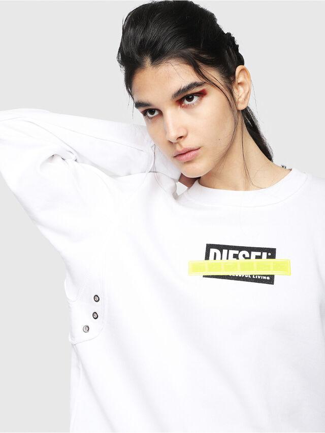 Diesel - F-LYANY-B, White - Sweatshirts - Image 3