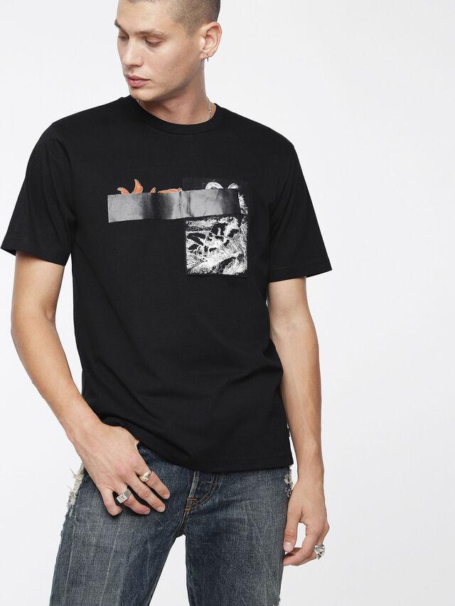 Diesel - T-JUST-XR, Black - T-Shirts - Image 1