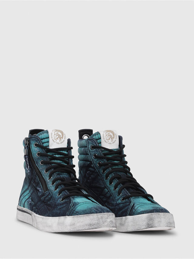 Diesel - D-VELOWS MID LACE, Turquoise - Sneakers - Image 2