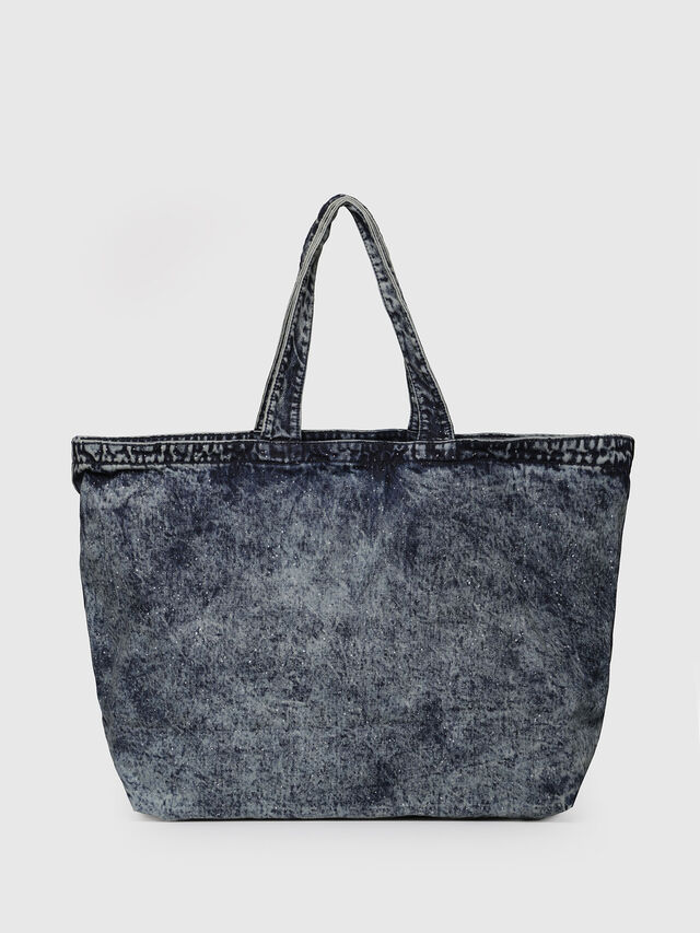 Diesel - D-THISBAG SHOPPER L, Grey Jeans - Shopping and Shoulder Bags - Image 2