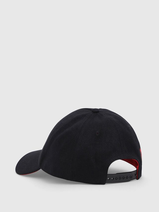 Diesel - DVL-CAPO-CAPSULE, Black/Red - Caps, Hats and Gloves - Image 2