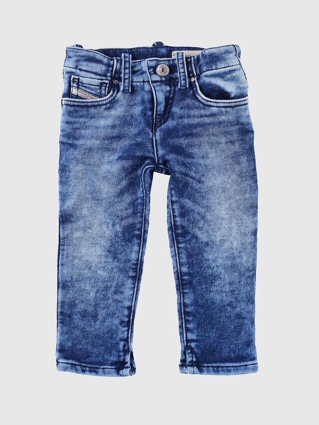 Diesel - GRUPEEN-B-N JOGGJEANS, Melange Blue - Jeans - Image 1