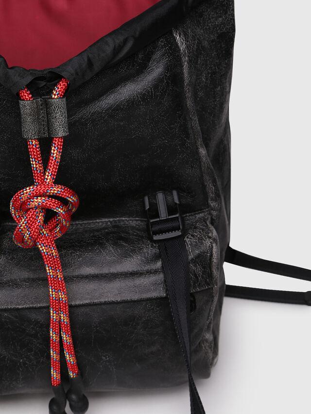 Diesel - M-INVICOLAB BACK IV, Black Leather - Backpacks - Image 6