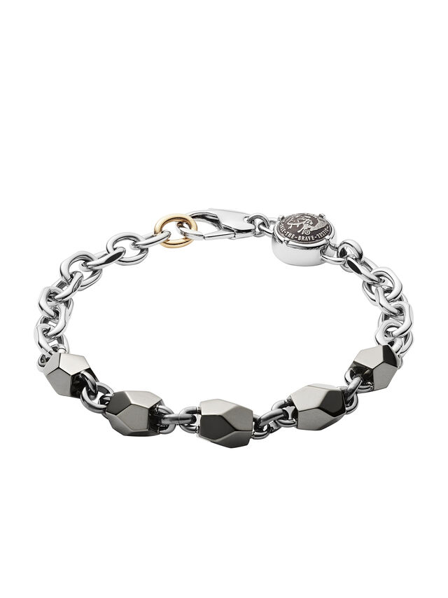 Diesel - DX1142, Silver/Black - Bracelets - Image 1