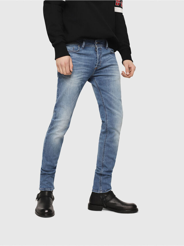 Diesel - Sleenker CN018, Medium Blue - Jeans - Image 1