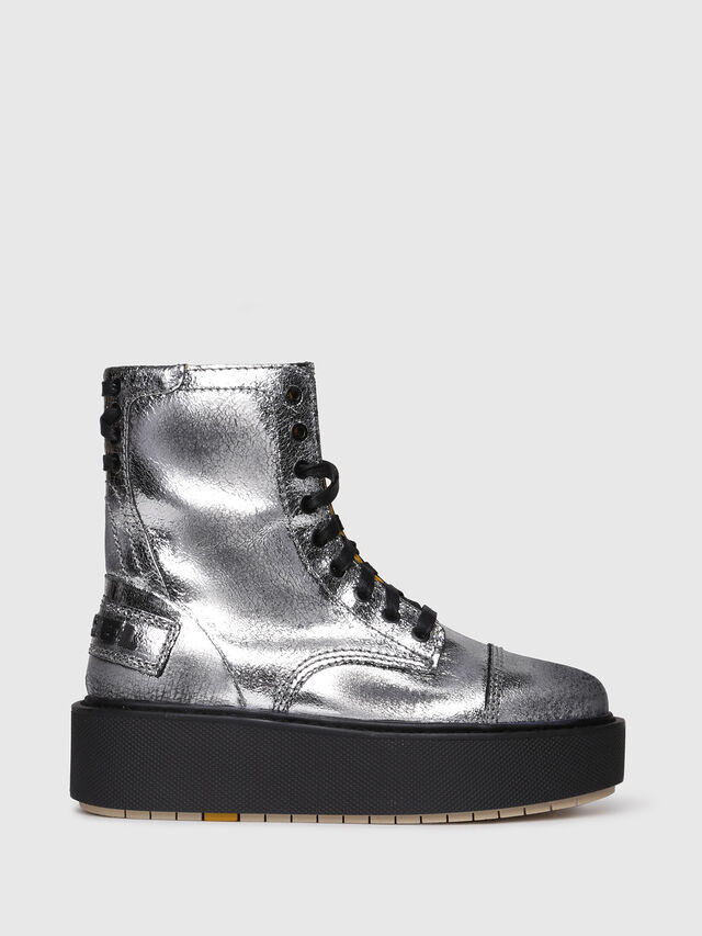 Diesel - D-CAGE HB, Silver - Ankle Boots - Image 1