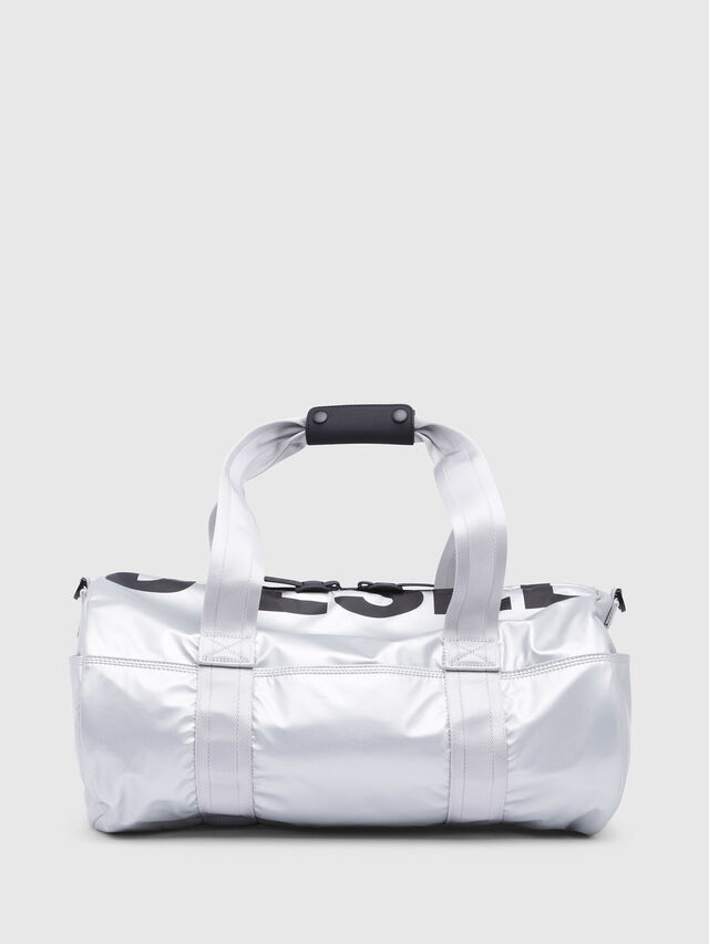 Diesel - F-BOLD DUFFLE, Silver - Travel Bags - Image 1