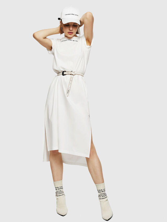 Diesel - D-FELIX-LONG, White - Dresses - Image 5