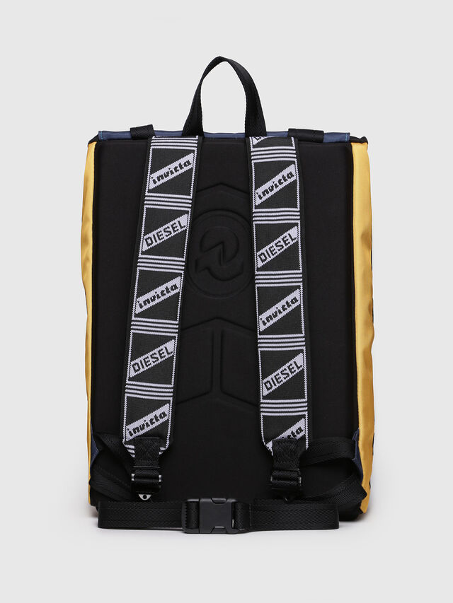 Diesel - M-INVICOLAB BACK I, Blue/Yellow - Backpacks - Image 2
