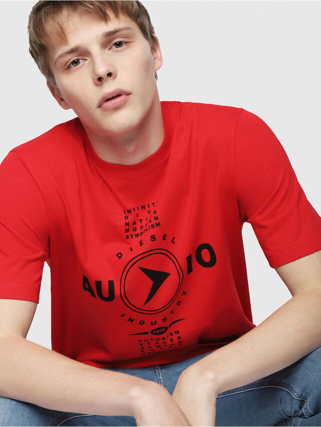 Diesel - T-JUST-Y2, Red - T-Shirts - Image 3