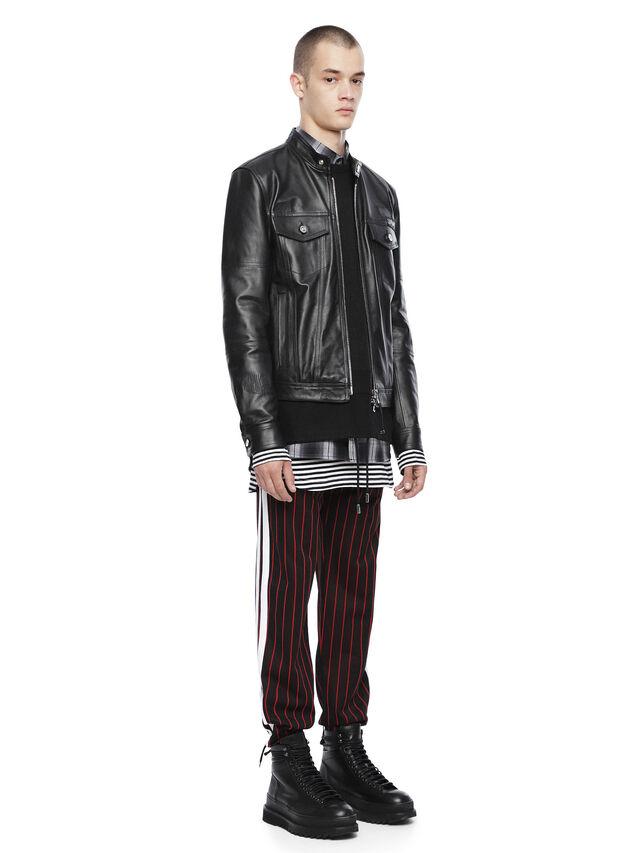 Diesel - LANPATCH, Black - Leather jackets - Image 4