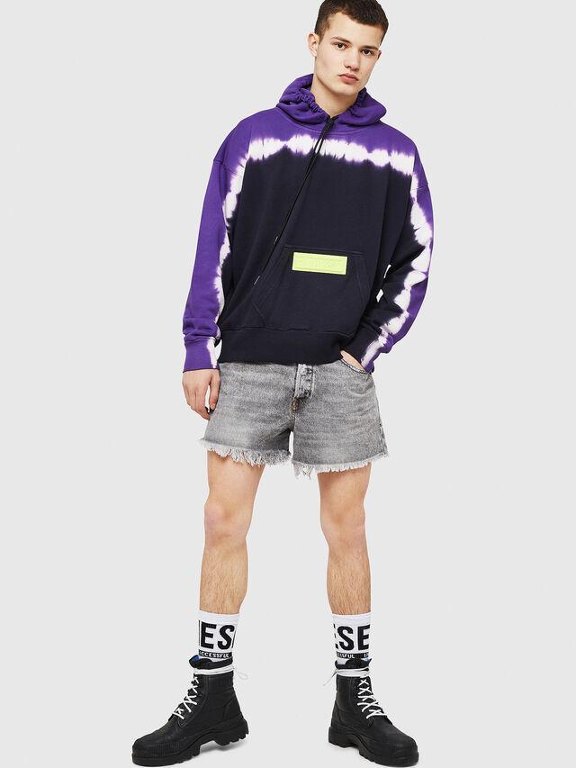 Diesel - S-ALBY-DEEP, Black/Violet - Sweatshirts - Image 5