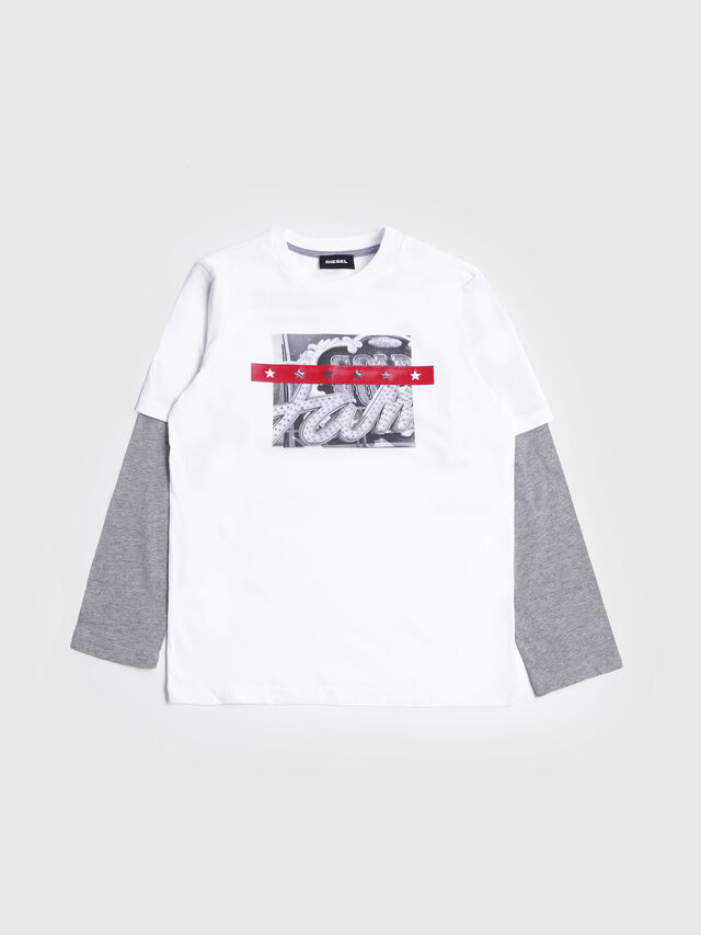 da288917 Diesel - TALTIX, White/Grey - T-shirts and Tops - Image 1