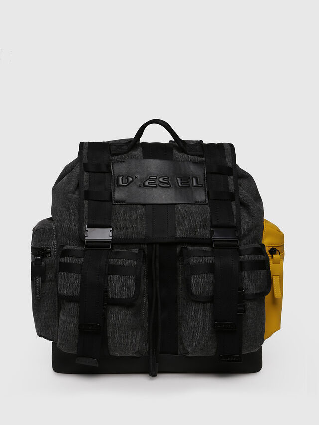 Diesel - M-CAGE BACK, Gray/Black - Backpacks - Image 1