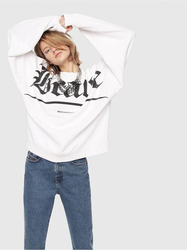 Diesel - F-YOSHIOR-Y1-FL, White/Black - Sweatshirts - Image 3