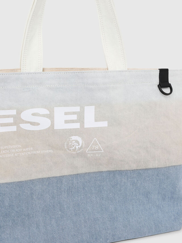Diesel - D-THISBAG SHOPPER L, White/Blue - Shopping and Shoulder Bags - Image 3