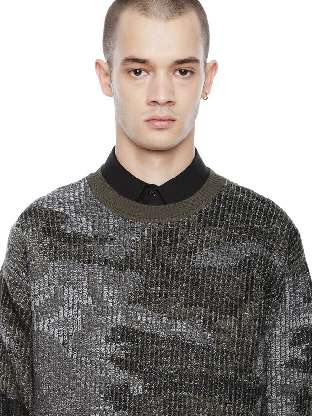 Diesel - KIPSILON, Military Green - Sweaters - Image 3
