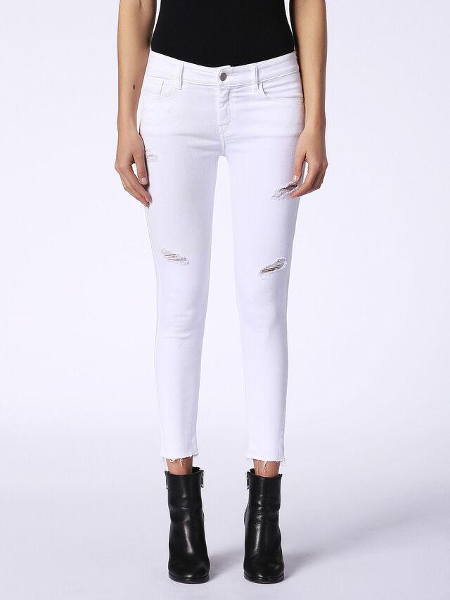Diesel - Slandy 084EX, White Jeans - Jeans - Image 2