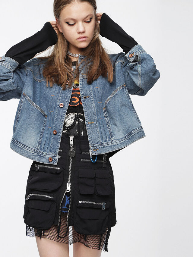 Diesel - DE-CRUSHIN, Blue Jeans - Denim Jackets - Image 1