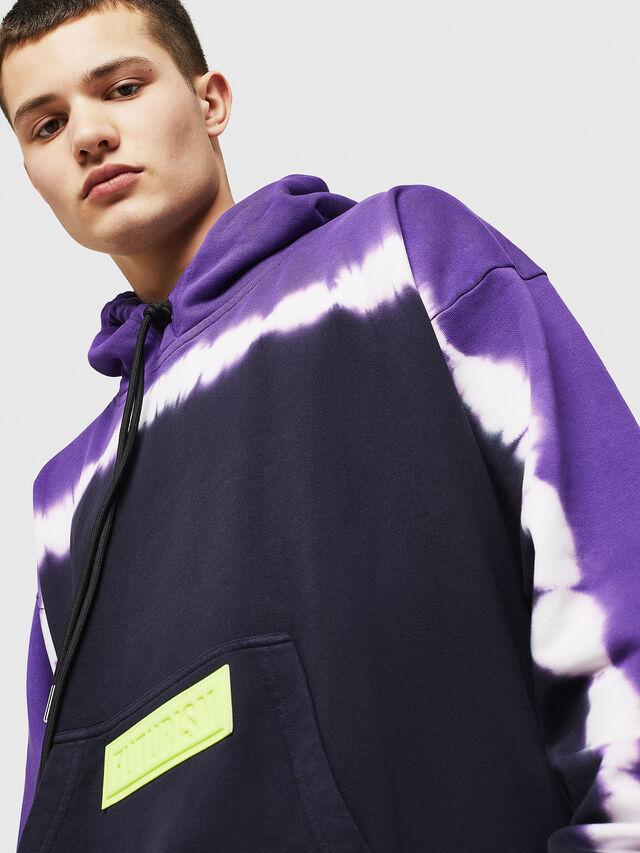 Diesel - S-ALBY-DEEP, Black/Violet - Sweatshirts - Image 4