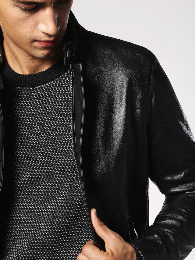 Diesel - L-RUSH, Black - Leather jackets - Image 7