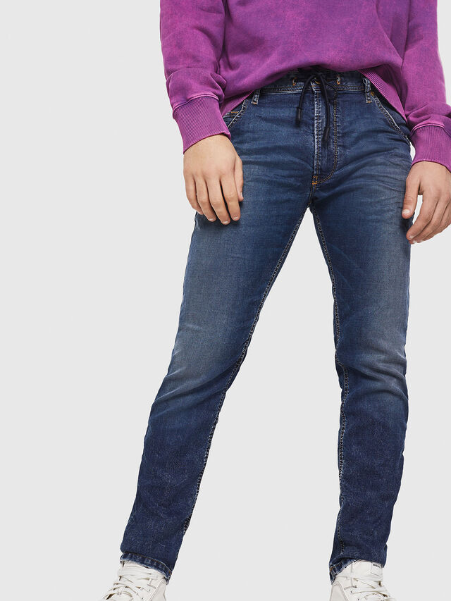 Diesel - Krooley JoggJeans 069FG, Medium Blue - Jeans - Image 4