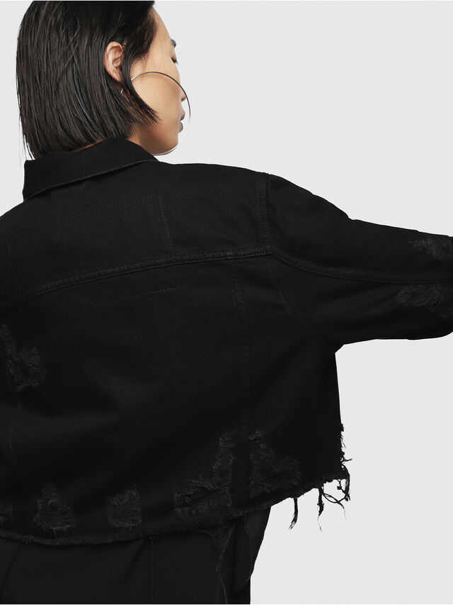 Diesel - DE-POPPY, Black Jeans - Denim Jackets - Image 4