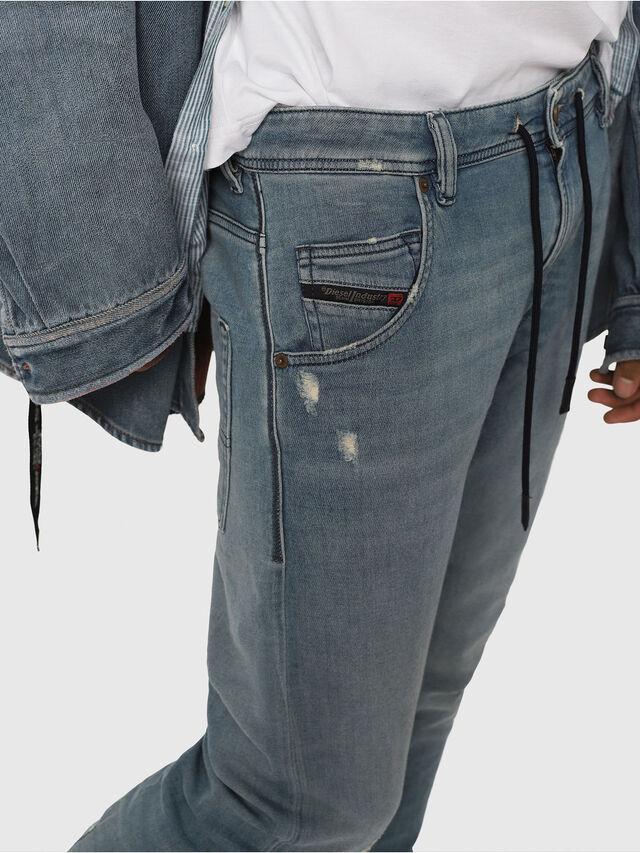 Diesel - Krooley JoggJeans 086AY, Medium Blue - Jeans - Image 4