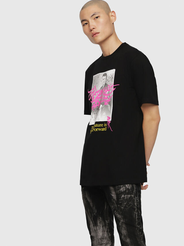 Diesel - T-JUST-YC, Black - T-Shirts - Image 1