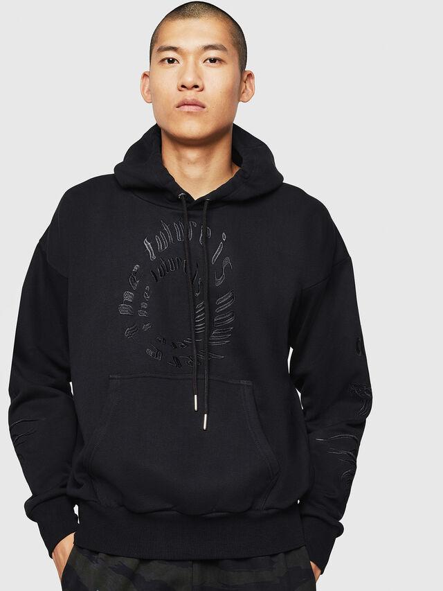 Diesel - S-ALBY-B5, Black - Sweatshirts - Image 1