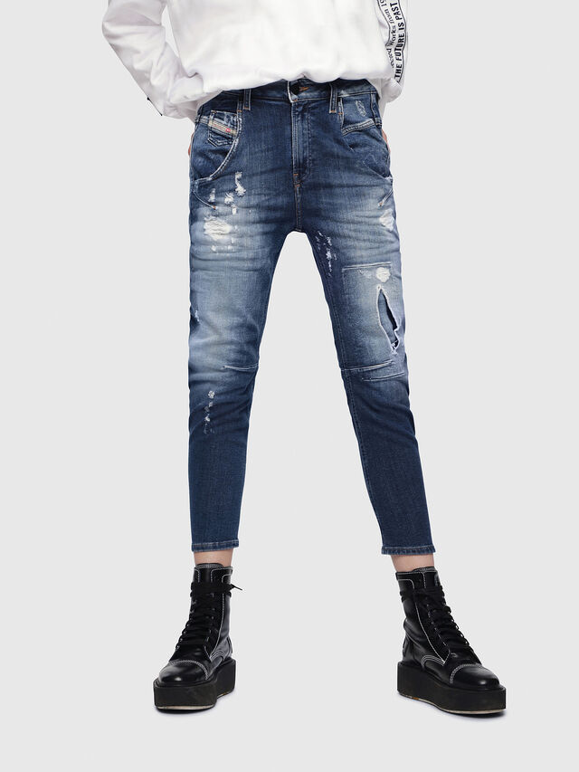 Diesel - Fayza JoggJeans 087AK, Medium Blue - Jeans - Image 1