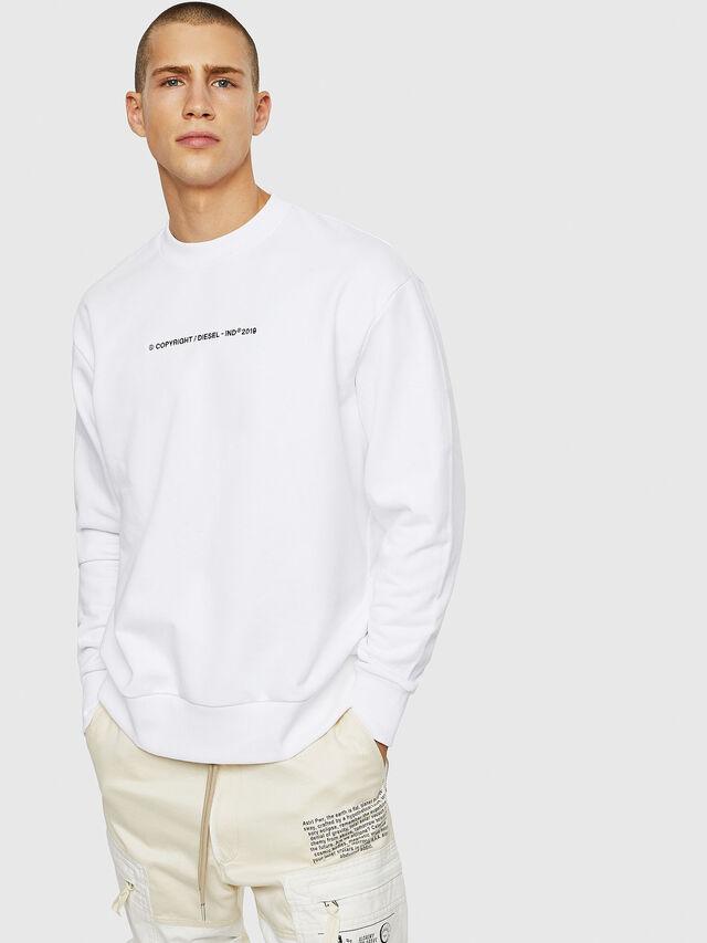 Diesel - S-BAY-COPY, White - Sweatshirts - Image 1