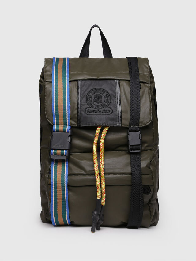 Diesel - M-INVICOLAB BACK II, Dark Green - Backpacks - Image 1