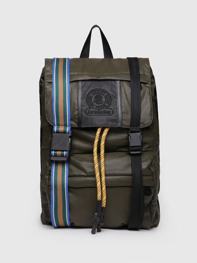 Diesel - M-INVICOLAB BACK II, Dark Green - Backpacks - Image 1