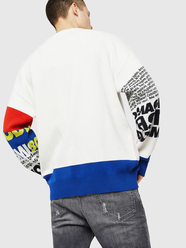 Diesel - K-RUBLO, White/Red/Blue - Sweaters - Image 2