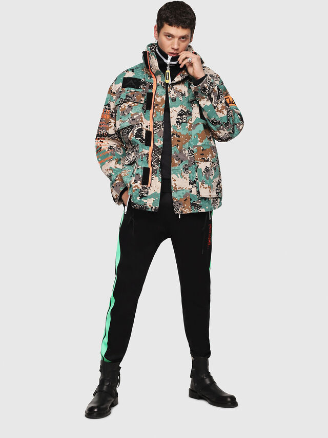 Diesel - J-TOUCHA-CAMOU, Green Camouflage - Jackets - Image 6