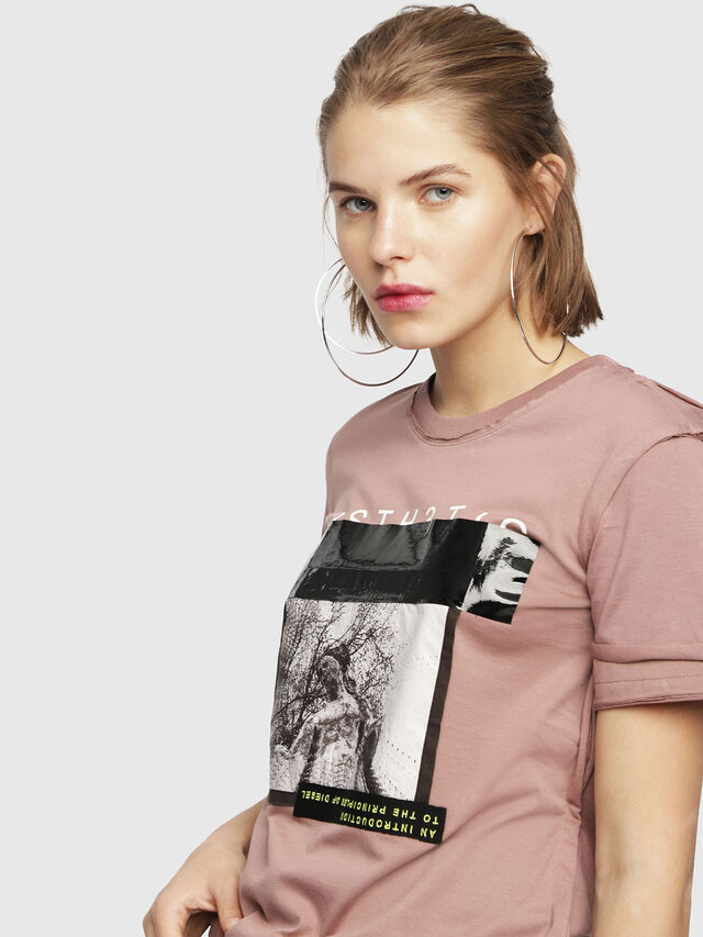 Diesel - T-SILY-WB, Face Powder - T-Shirts - Image 3