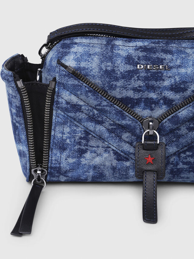 Diesel - LE-ZIPPER CROSSBODY, Blue/White - Crossbody Bags - Image 3