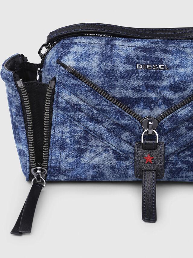 Diesel - LE-ZIPPER CROSSBODY, Blue/White - Crossbody Bags - Image 3
