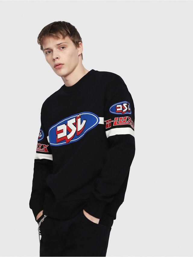 Diesel - S-BAY-YF, Multicolor/Black - Sweatshirts - Image 1