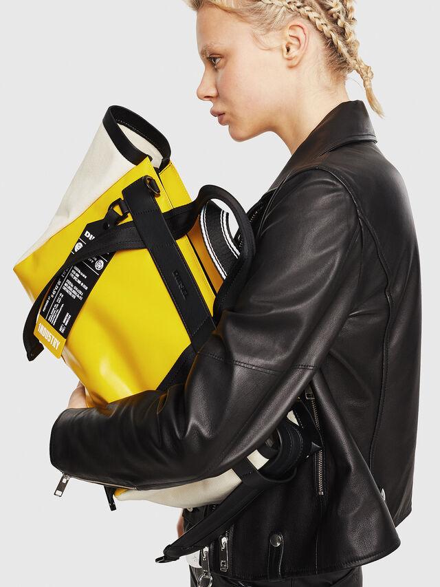 Diesel - F-CAORLY SATCHEL M, Yellow - Bags - Image 5