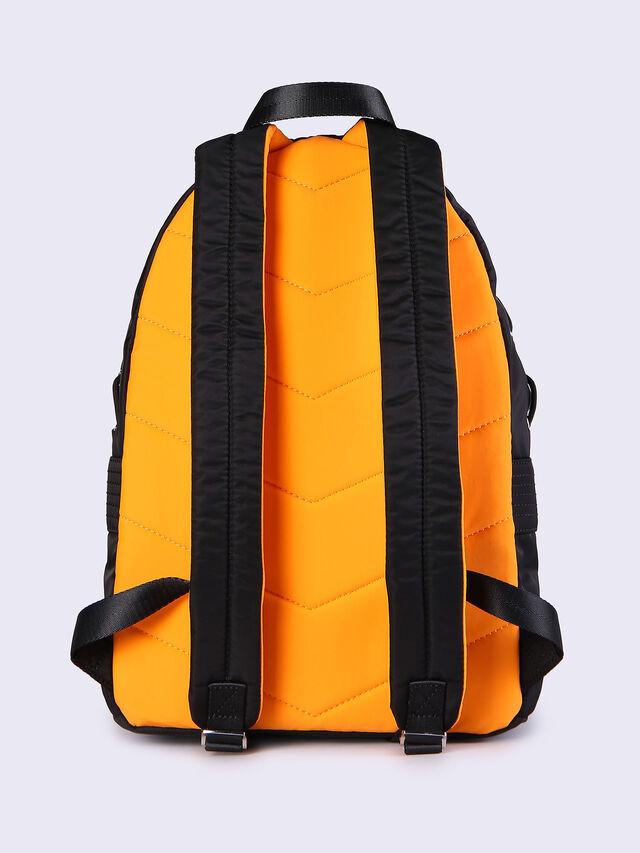 Diesel - F-SUPERPASS BACK, Black/Orange - Backpacks - Image 3