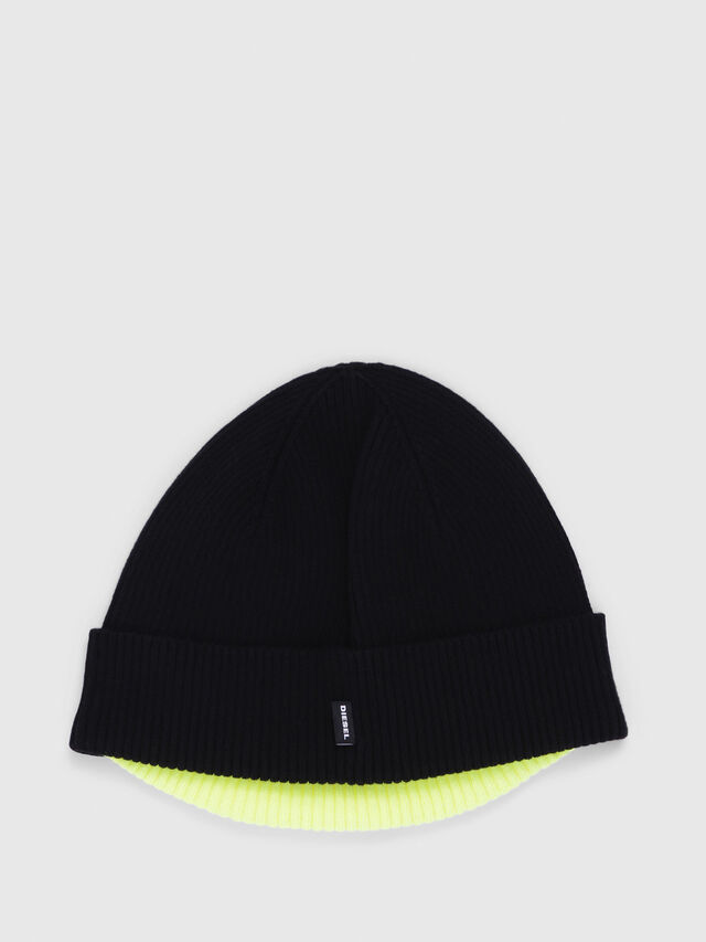 Diesel - K-DOBLY, Black/Yellow - Caps, Hats and Gloves - Image 2