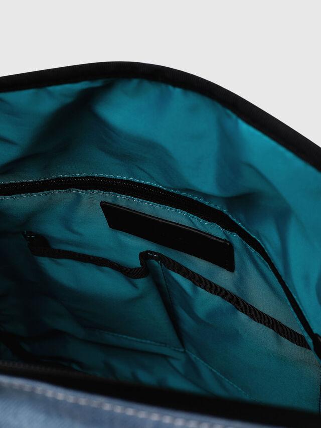 Diesel - D-SUBTORYAL DENIM BA, Blue/White - Backpacks - Image 4