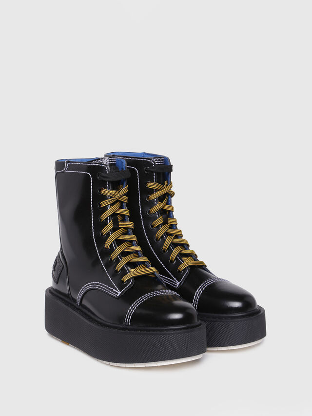 Diesel - D-CAGE HB, Bright Black - Ankle Boots - Image 2