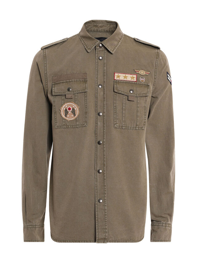Diesel - SILITARY, Military Green - Shirts - Image 1